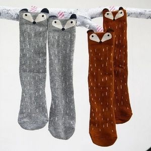 Other - 🌟$7 each or 2 for $10 Fox animal print knee socks